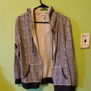 Victoria secret hoodie grey and white size L